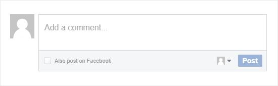 Facebook  formulario de comentarios