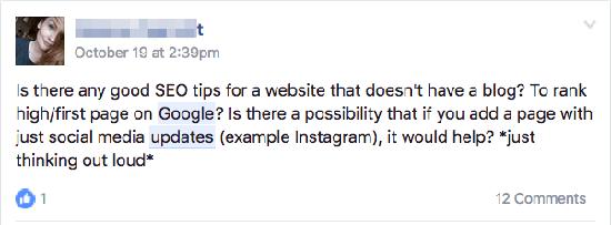 facebook pitanje