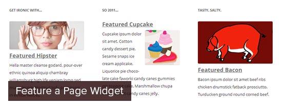 Presentar un widget de página