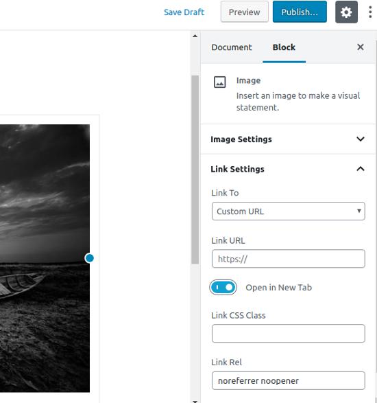 Agregar un enlace personalizado a una sola imagen en WordPress