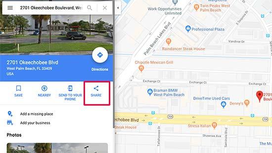 Compartir un mapa en Google Maps