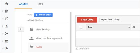 Agregar su nuevo objetivo en Google Analytics