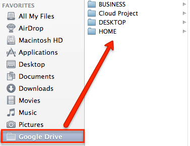 google sürücü mac