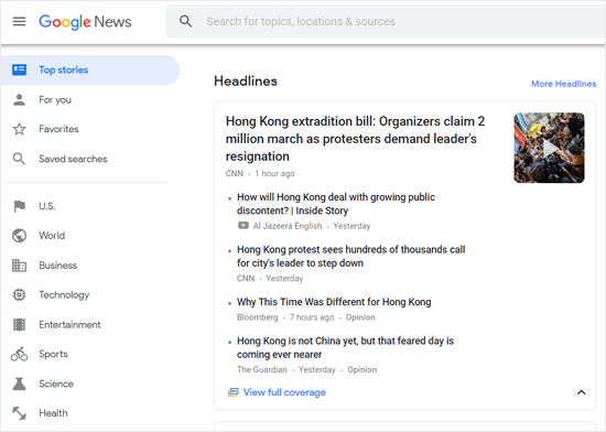 Google News Aggregator
