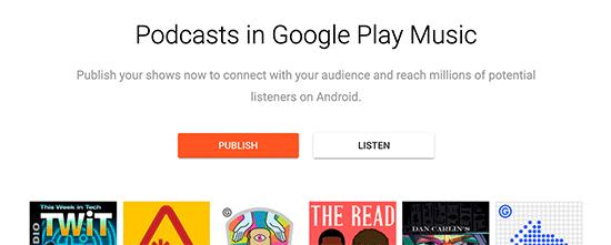 Publicar Google Podcast