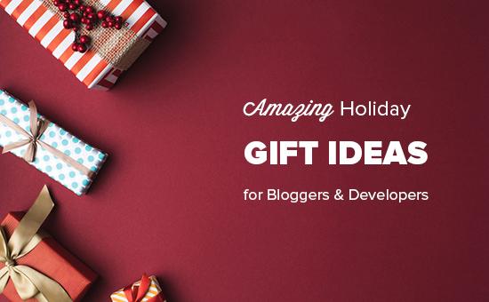 Increíbles ideas de regalos navideños para bloggers, diseñadores y desarrolladores.
