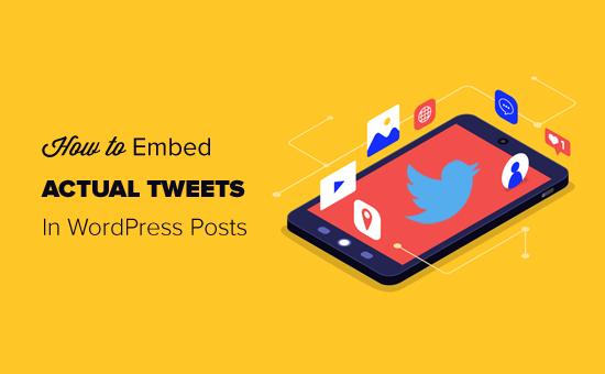 Cómo incrustar fácilmente tweets en publicaciones de blog de WordPress