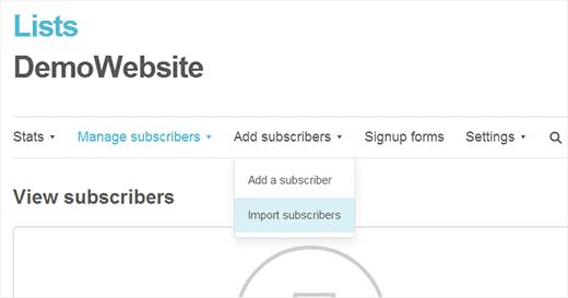 Importar suscriptores de correo electrónico de FeedBurner a MailChimp