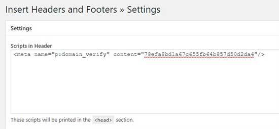 Chèn thẻ HTML vào phần tập lệnh