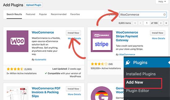 Cài đặt WooC Commerce