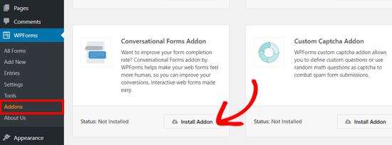 Installieren Sie das WPForms Conversational Forms Plugin