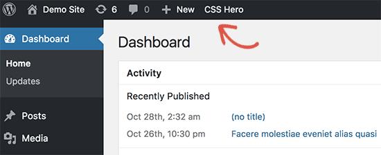 Lanzar CSS Hero