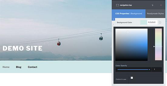 Vista previa en vivo de sus cambios de CSS