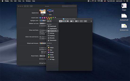 Tryb ciemny w systemie macOS