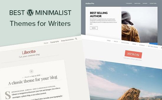 26 najlepších minimalistických tém WordPress pre autorov