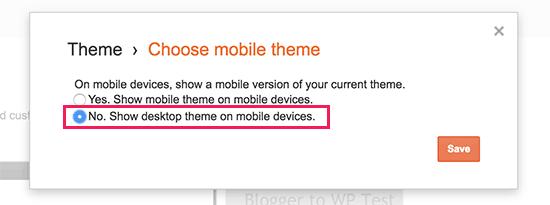 Desactivar tema móvil