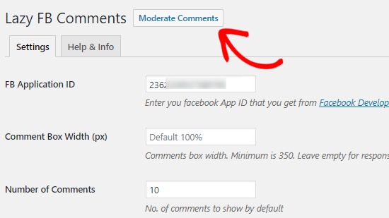 Moderar Facebook Opción de comentarios