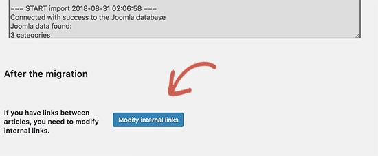 Modificar enlaces internos