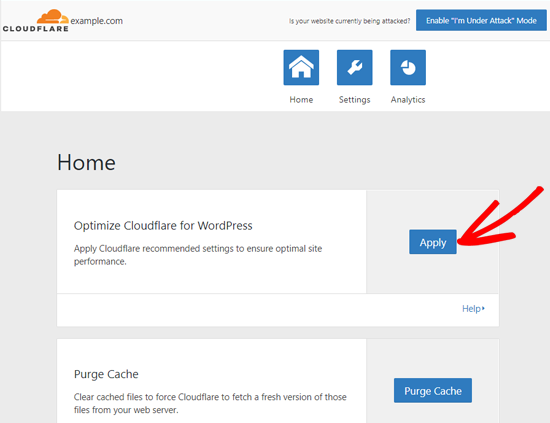 Otimize o Cloudflare para WordPress