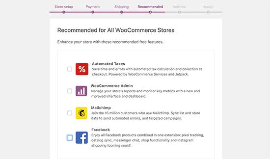 Khuyến nghị bổ sung WooC Commerce