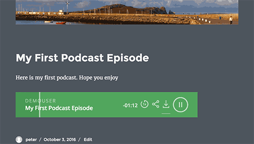 Reproductor de podcast en WordPress