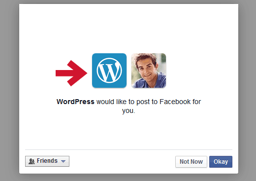 Permitir que WordPress.com publique en Facebook para ti