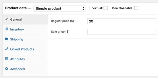 Agregar datos del producto