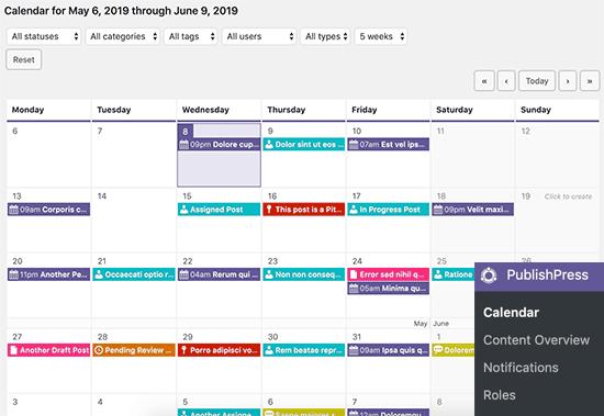 Administrando su calendario editorial