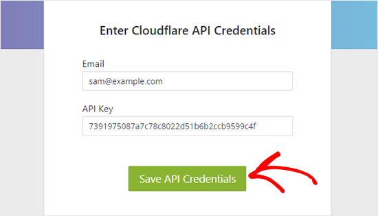 Salvar credenciais da API Cloudflare no WordPress