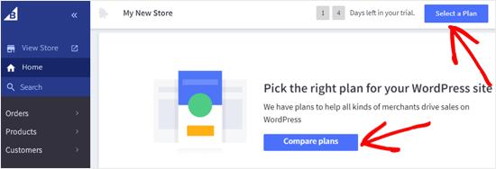 Seleccione un plan de BigCommerce