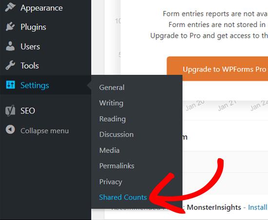 WordPress Paylaşılan Sayğaclar Menyusu