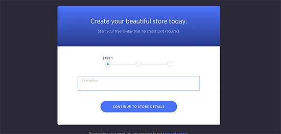 Regístrese para obtener una cuenta BigCommerce