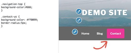 Cambiar el color de fondo de un único elemento de menú en los menús de navegación de WordPress
