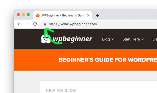 Sitio web habilitado para SSL