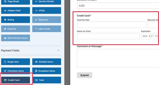 Agregar campo de tarjeta de crédito Stripe a su formulario