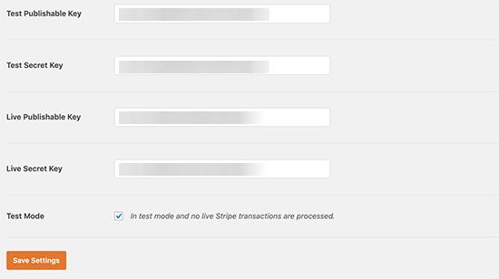 Teclas de banda en WPForms