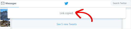 Tweet Enlace copiado