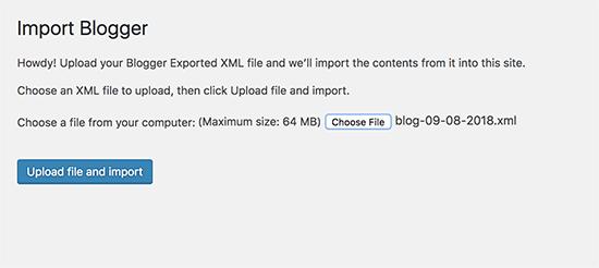 Carregue o arquivo para importar