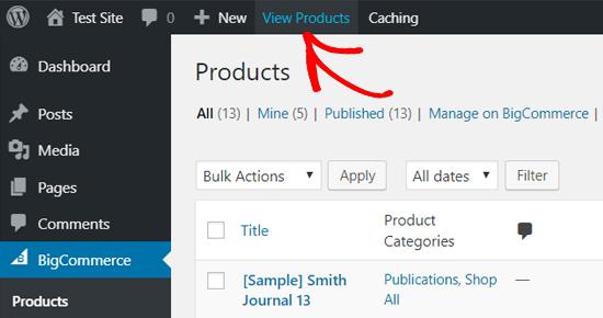 Ver productos de BigCommerce en WordPress