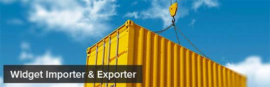 Widget Importador y Exportador
