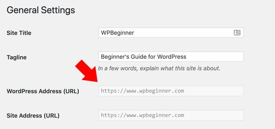 URL WordPress xám