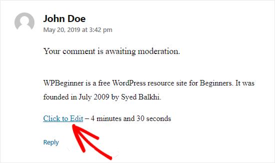 Redaktə etmək üçün WordPress düyməsini basın