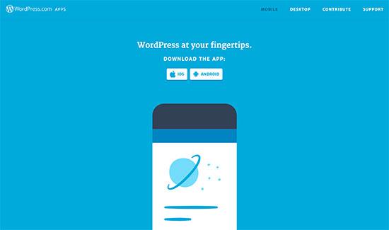 Aplicaciones de WordPress.com