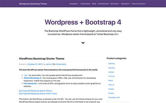 WP Bootstrap Başlanğıc