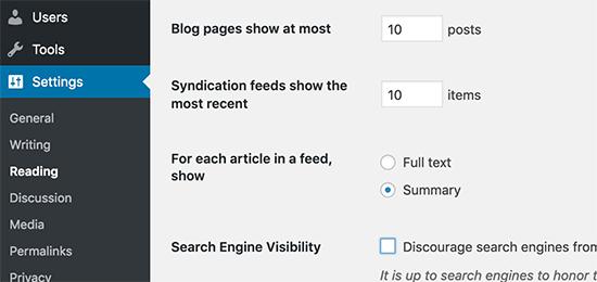 Xem đoạn trích thay vì toàn văn để tăng tốc WordPress