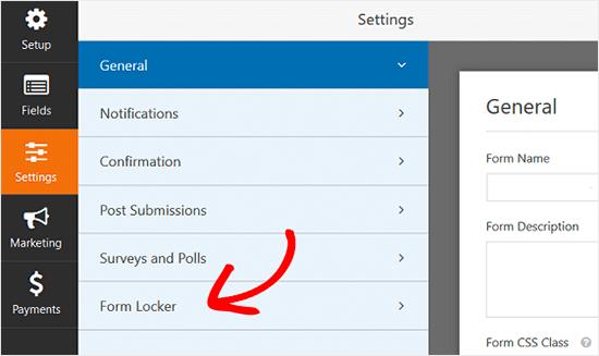Configuración del casillero de formularios WPForms