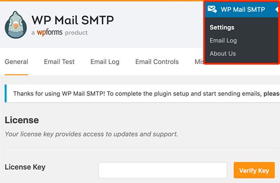 Clave de licencia SMTP de WP Mail