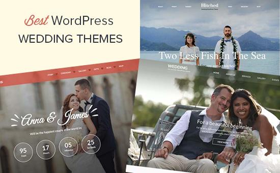 Los mejores temas de boda para WordPress