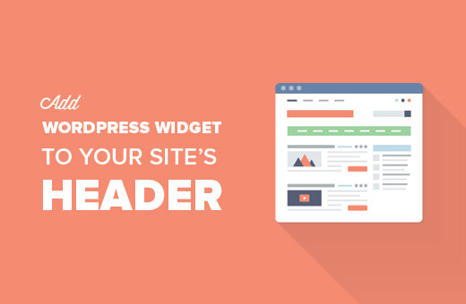 Agregue un widget de WordPress al encabezado de su sitio