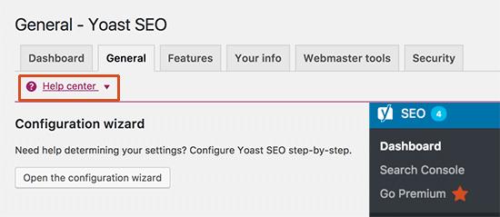 Configuraciones en Yoast SEO